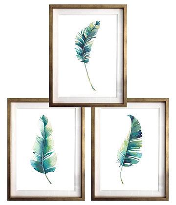 Plumas verdes (3 diseños disponibles) / Desde 20.000 c/u