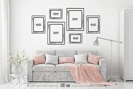 Composición 6 cuadros 3 formatos