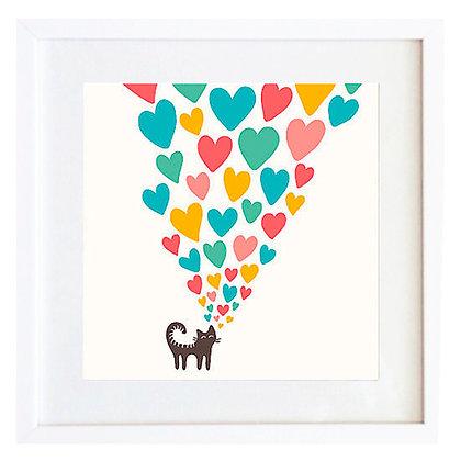 Gato con corazones / Desde 20.000