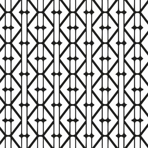 Papel Mural Geometrico Blanco Y Negro