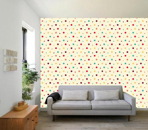 Papel Mural Puntos colores