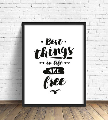 Best things are free / Desde 25.000