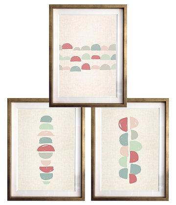 Abstracción en semicírculos rojo (3 diseños disponibles) / Desde 23.000 c/u