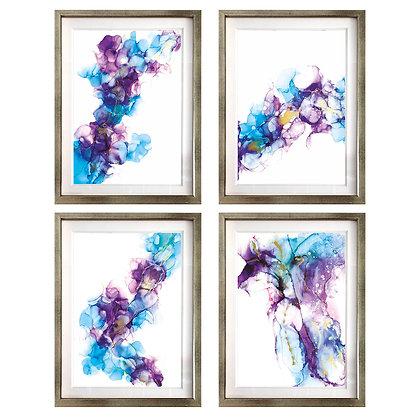 Acuarelados en celeste y morado (4 diseños disponibles) / Desde 40.000 c/u