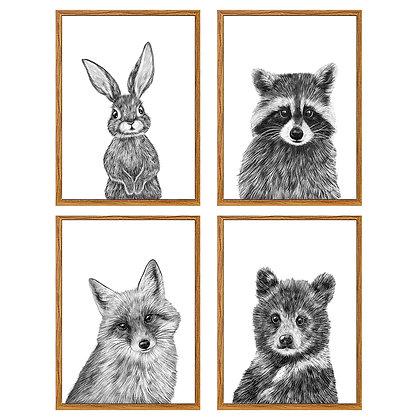 Animales mano alzada (4 diseños disponibles) / Desde 20.000 c/u
