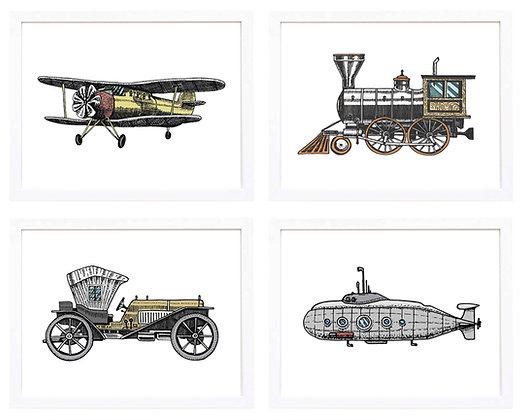 Medios de transporte (6 diseños disponibles) / Desde 20.000 c/u
