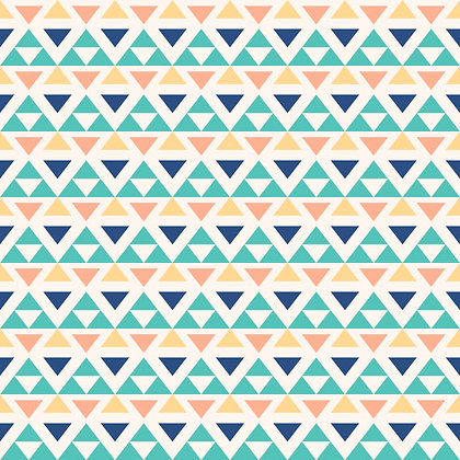 Papel Mural Triángulos verde, azul, naranjo