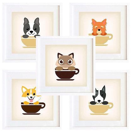 Animales en taza (11 diseños disponibles) / Desde 20.000 c/u
