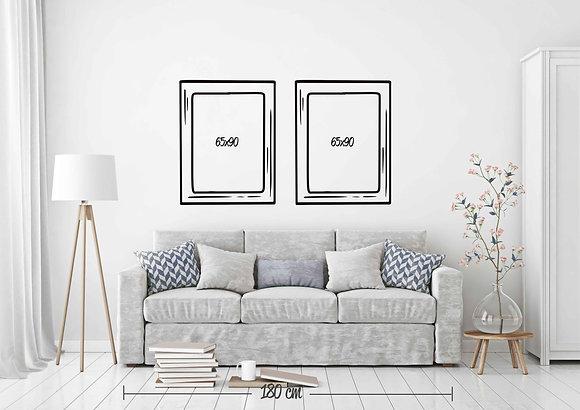 Set 2 cuadros 65x90 / Diseño a elección