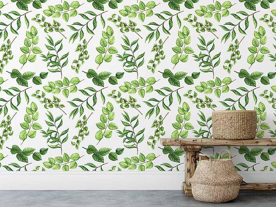 Papel Mural hojas