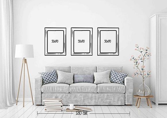 Set 3 cuadros 50x70 / Diseño a elección