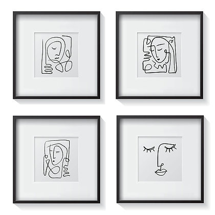 Retratos Minimalistas (4 diseños disponibles) / Desde 20.000 c/u