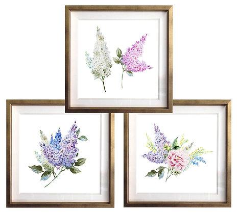 Flores acuarela (3 diseños disponibles) / Desde 20.000 c/u