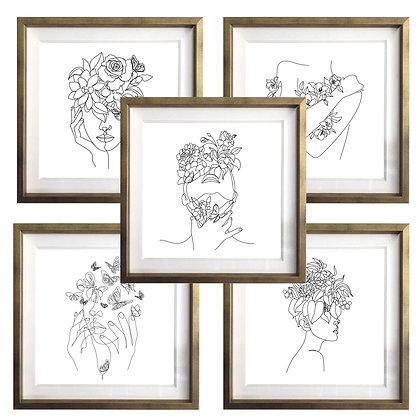 Retratos florales (5 diseños disponibles) / Desde 20.000 c/u