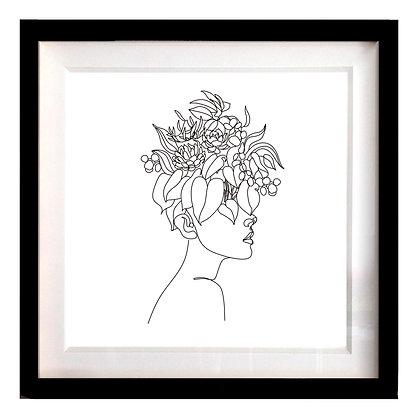 Retrato Floral perfil 40x40