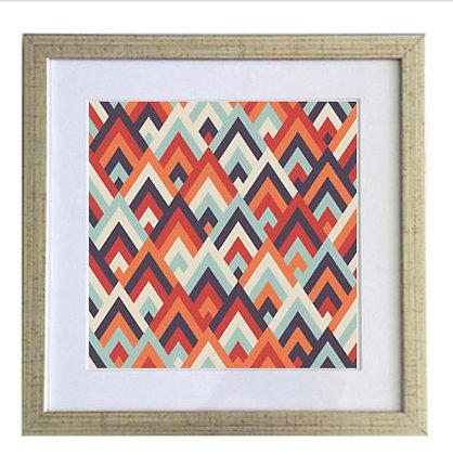 Triángulos abstractos rojos / Desde 20.000