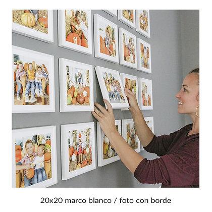 Cuadros con Fotos Familiares sin vidrio / Tamaño único / 9.900 c/u