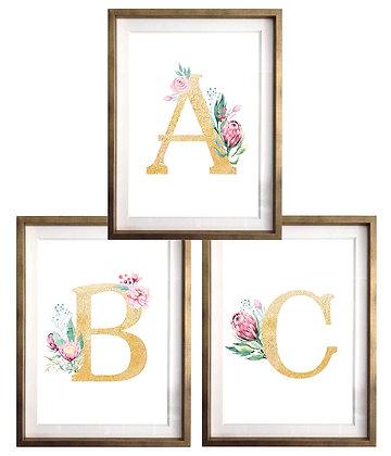 Letras con flores / Desde 20.000 c/u