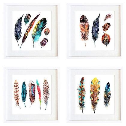 Plumas coloridas (4 diseños disponibles) / Desde 20.000 c/u