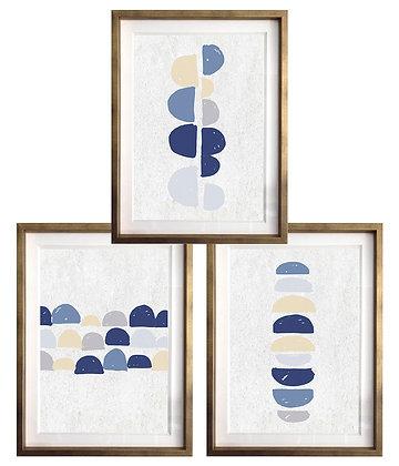 Abstracción en semicírculos (3 diseños disponibles) / Desde 20.000 c/u