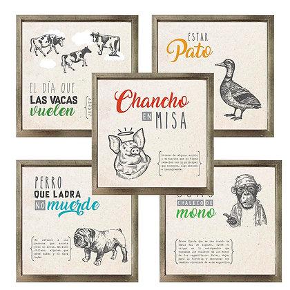 Dichos animales (9 diseños disponibles) / Desde 9.900 c/u