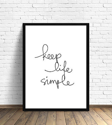 Keep life simple / Desde 20.000