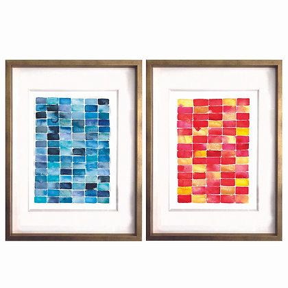 Rectángulos acuarela (2 diseños disponibles) / Desde 25.000 c/u