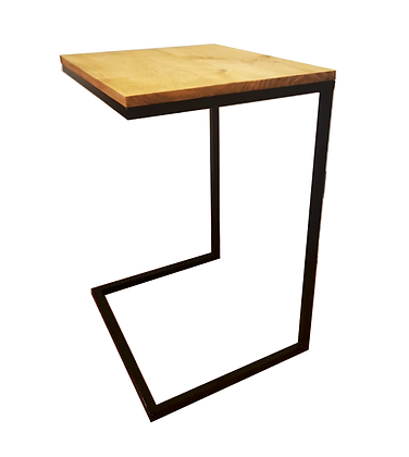 Mesa lateral fierro y madera