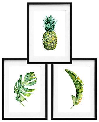 Piña y hojas tropicales (3 diseños disponibles) / Desde 20.000 c/u