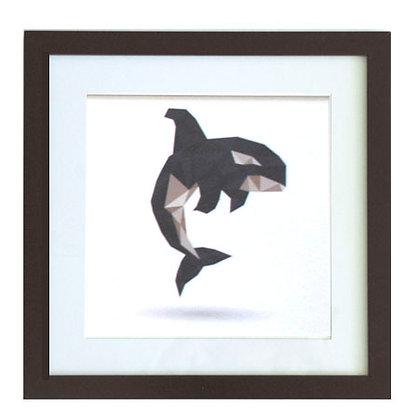 Serie animales geométricos ballena