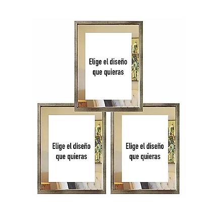 Cuadro paspartú de espejo / Desde 35.000 c/u