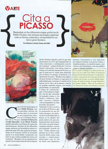 Reportaje sobre exposición en Galería Praxis