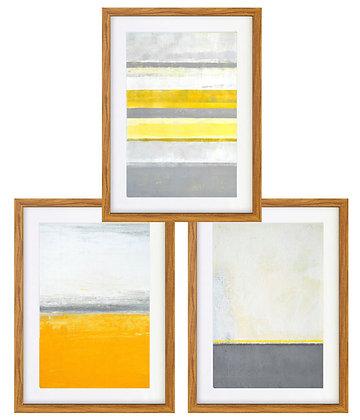 Abstracción pinturas amarillo (3 diseños disponibles) / Desde 20.000 c/u