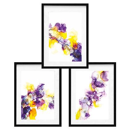 Acuarelados en morado y amarillo (3 diseños disponibles) / Desde 40.000 c/u