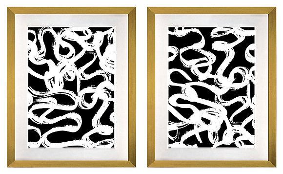 Curvas abstractas en negro (2 diseños disponibles) / Desde 79.000 c/u