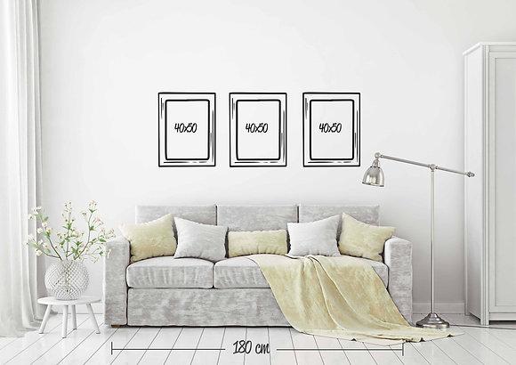 Set 3 cuadros 40x50 / Diseño a elección