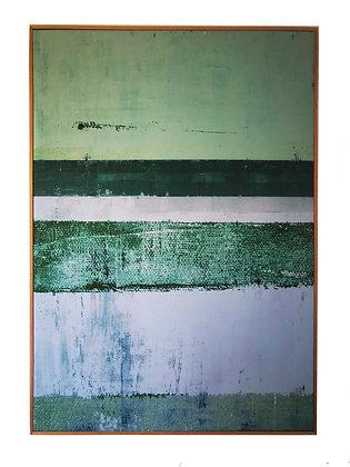 Canvas II 77x102 Perfil de madera