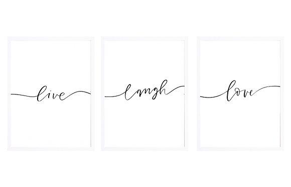 Live Laugh Love / Desde 25.000 c/u