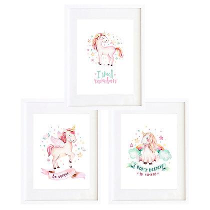 Unicornios (3 diseños disponibles) / Desde 20.000 c/u