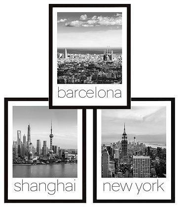 Ciudades del mundo / Blanco y negro (10 diseños disponibles) / Desde 23.000 c/uu