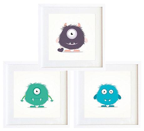 Monstruos color (3 diseños disponibles) / Desde 20.000 c/u