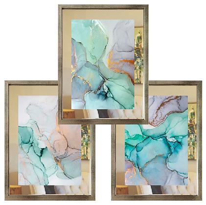 Abstractos Acuarelados paspartú de espejo (4 diseños) / Desde 35.0000 c/u