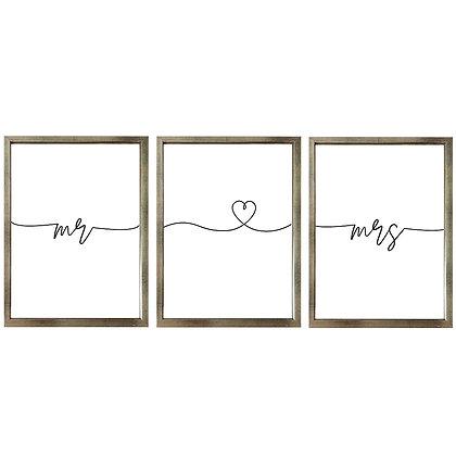Mr & Mrs  / (3 diseños disponibles) Desde 20.000 c/u
