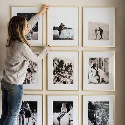Cuadro con Fotos Familiares / Con vidrio / Varios tamaños / Desde 13.500 c/u