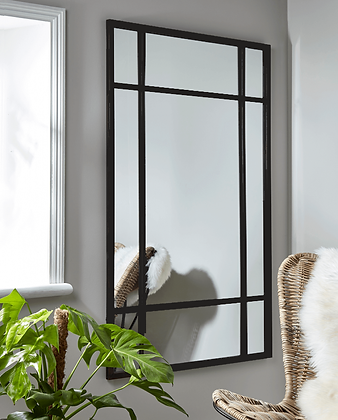 Espejo Brecht 75x100 marco negro
