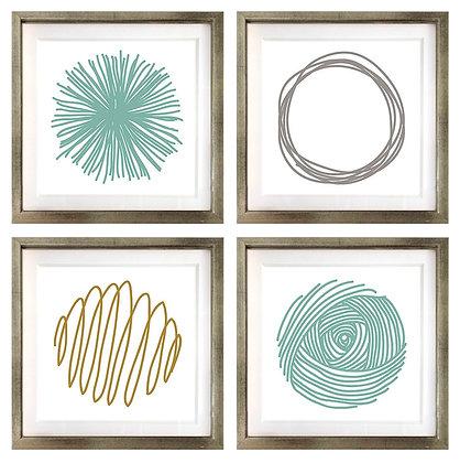 Círculo abstracto (4 diseños disponibles) / Desde 20.000 c/u