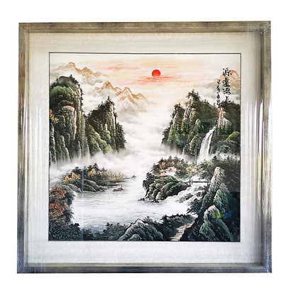 Paisaje Acuarela oriental (copia única)
