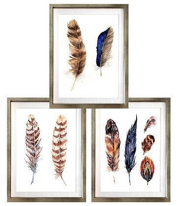 Plumas étnicas (3 diseños disponibles) / Desde 23.000 c/u