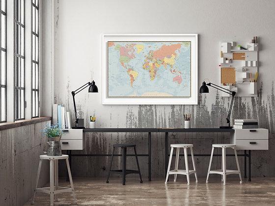 Mapa pineable tonos claros / Desde 75.000