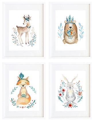 Animales con flores (5 diseños disponibles) / Desde 20.000 c/u